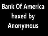 Bank Of America Hacked By Anonymous