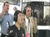 F1 - Lewis Hamilton And Felipe Massa Accident In GP India 2011 + Funny Mr Bean Rowan Atkinson Reaction