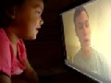Military Dad On Deployment Reads His Daughter A Bed Time Story Via Pre-recorded Video