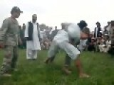 PASHTUN WHIPS US SOLDIER IN WRESTLING AFGHANISTAN