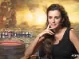 A Mustached Penelope Cruz Makes Johnny Depp Laugh