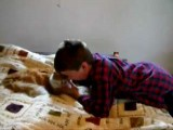 Boy Reunites With Missing Cat