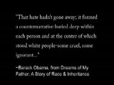 Barak Obama The Racist