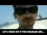 Dude Slaps Brazilians Girls Ass On Beach