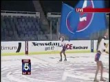 NY Islanders Ice Cheerleader Falls