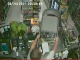 Robbery Fail - Robber Thumped On Head With Chair