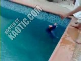 Shocking - Arab Family Teach Their Child To Swim