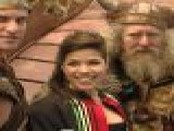 America Ferrera Docks Her Viking Ship In Time Square