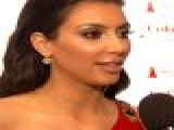 Kim Kardashian On Red Dress Fashion Show, Valentine&#8217 S Day Plans & Sister&#8217 S Rumored Sex Tape