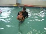 Amazing 2-year-old Swimming!