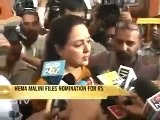 Hema Malini Files Nominations For RS
