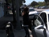 Ashley Tisdale Leaves The Byron & Tracey Hair Salon In Beverly Hills