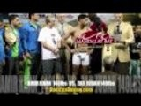 AMIR KHAN Vs ZAB JUDAH Official Weigh-Ins From Las Vegas Boricu