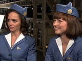 Access Hollywood Christina Ricci & Karine Vanasse Talk Sexy &#039 Pan Am&#039 Wardrobe & Future Episodes