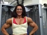 Alina Popa Training In The Gym