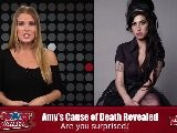 Amy Winehouse Died From Alcohol Consumption