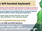 Black Left-Handed Keyboard: Ergonomics In The Workplace