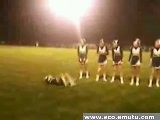 Cheerleader Flip Fail