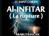 CORAN ARABE-FRANCAIS LA RUPTURE Sourate 82