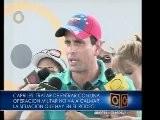 Capriles: Entrar Con Operaci&oacute N Militar No Va A Calmar Situaci&oacute N