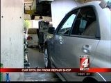 Car Stolen From Repair Shop
