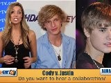 Cody Simpson Says No Rivalry With Justin Bieber