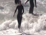 Courtney Cox Looks Cougar-ific On Set In A Wetsuit