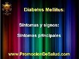 DIABETES MELLITUS, SINTOMAS Y SIGNOS NUTRICION Y SALUD