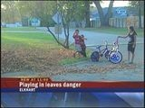 Elkhart Boy Almost Hit By Car While Playing In Leaves