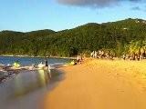 Guadeloupe Deshaies Plage Grande Anse Surfeurs