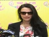 Gorgeous Neha Dhupia Looks Killer Sexy In Black Jacket At Radio Mirchi