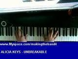 How To Play Unbreakable - Alicia Keys - Piano Lesson