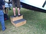 How Heavy Do You Think This Wooden Aircraft Step Stool Is