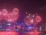 Hong Kong Celebrates With Spectacular Fireworks