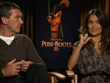 HitFix Puss In Boots - Antonio Banderas And Salma Hayek