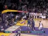 Kobe Bryant Buries A Tough Jumper With A Hand In His Face
