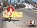 Lost Bet Means Man Must Parade Almost Naked