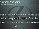 Lexus Alignment Anaheim - Lexus ES Steering Repairs Anaheim