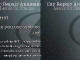 Lexus Oil Change Anaheim - Lexus LX Auto Mechanic Anaheim