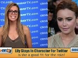 Lily Collins Tweets As Clary Fray From ' The Mortal Instruments'