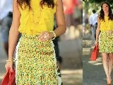 Leighton Meester In Yellow On &#039 Gossip Girl&#039