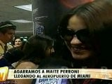 Maite Perroni Llegando A Miami ETV