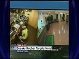Man Caught On Video Robbing Hotel After Hiding From Clerk