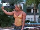 Milinda Richardson Massive Blonde Female Bodybuilder Huge Muscles