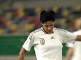 N. Angerer,Alex. Popp,Lira Barjramaj FIFA Fussball-WM 2011