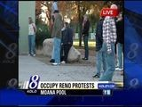Occupy Reno Protests At The Moana Municipal Pool