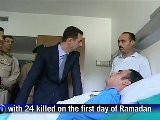Presidente Sirio Visita A Heridos En Hospital Militar