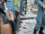 Raw Video: Aftermath Of Bombing At Shootout At Kunduz Hotel