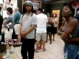 RUDE Black Woman With A BAD Mouth Has No Respect For Mother And Her Little Baby In McDonalds The YNC.com