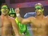 Sting, Lex Luger & Macho Man Randy Savage Vs Dick Slater Mike Enos VK Wallstreet